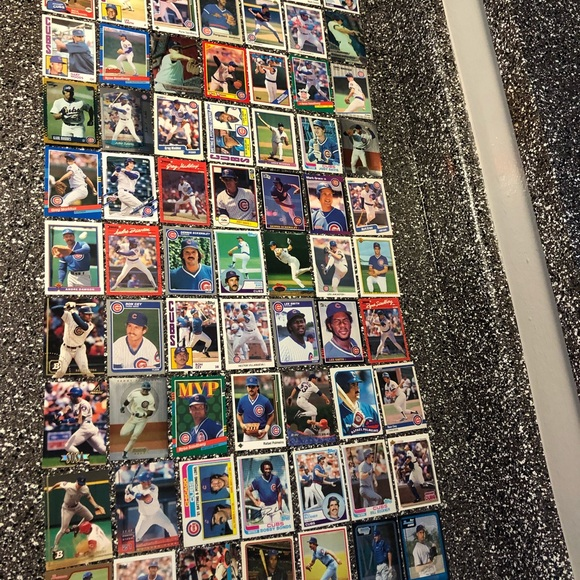 70 Chicago Cubs baseball cards team lot stars & Rc